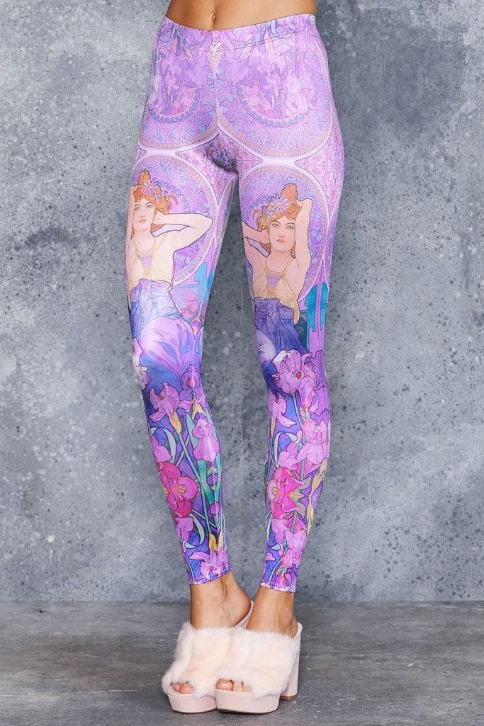 Mucha Amethyst Leggings - 48HR ($75AUD) by BlackMilk Clothing