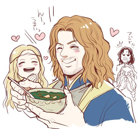 Faramir likes Eowyn's cooking <3