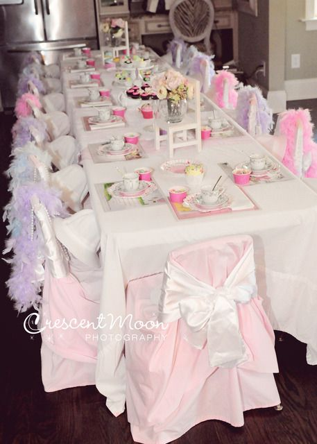 What a gorgeous table at a Tea Party birthday! See more party ideas at CatchMyParty.com!