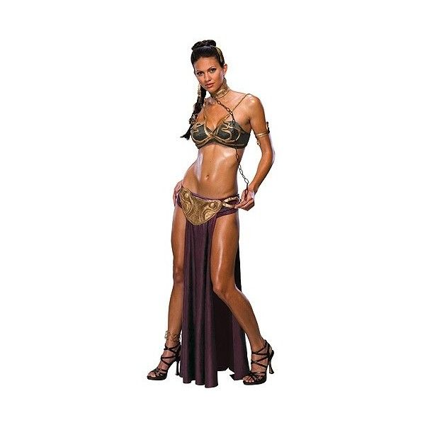 Rubies Costumes Adult, Star Wars Princess Leia Slave, X-Small, 1 ea ($35) ❤ liked on Polyvore featuring costumes, adult women costumes, sexy adult costumes, adult princess costume, adult halloween costumes and sexy womens costume