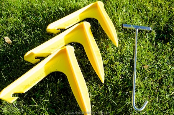 The Delta Ground Anchors are a great redesign on the tent peg, providing a secure ground anchor for your tent or awning.