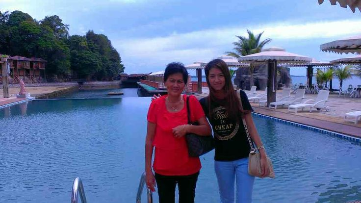 With mommy ..