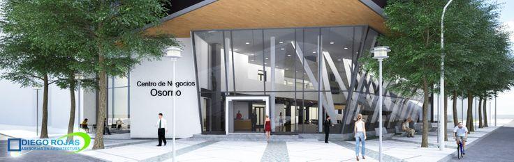 Proyecto: Edificio de Oficinas Polifuncional - ACCESO -  Arquitecto: Diego Rojas