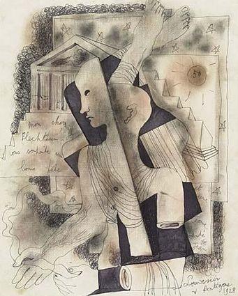 SOUVENIR À ANTIGONE by Jean Cocteau