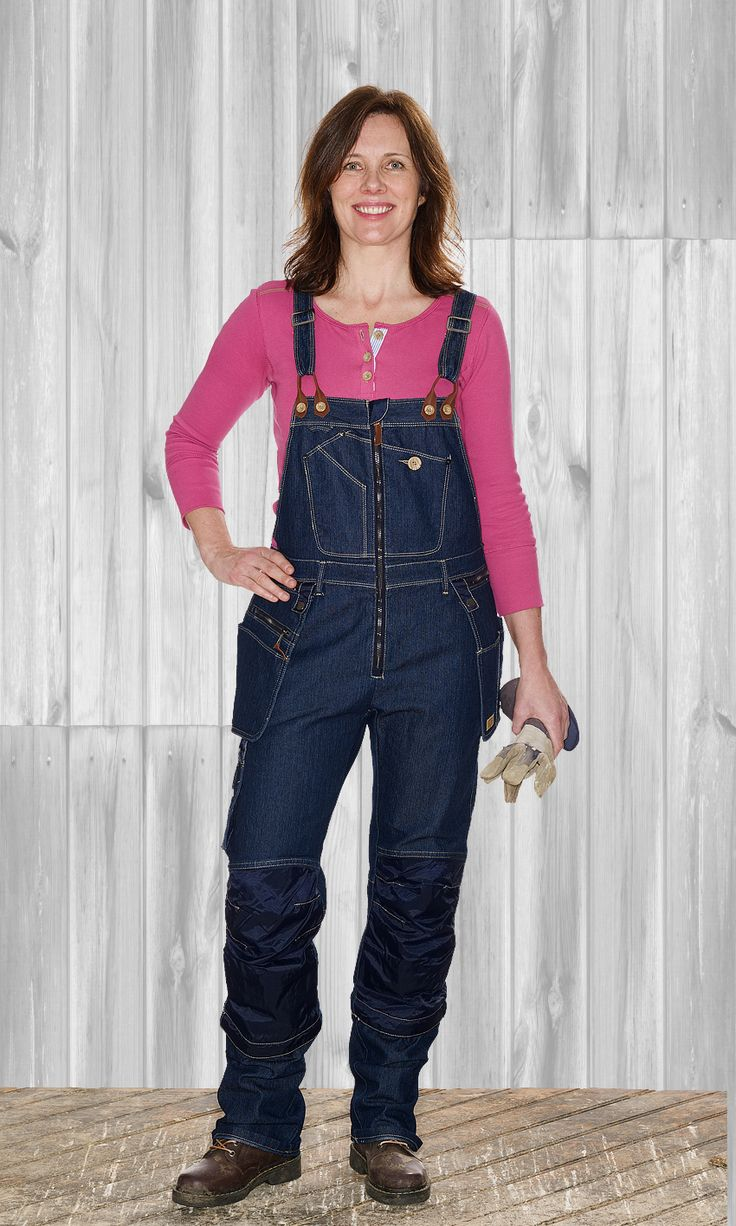 Flora Worker bib pants from Flora manufaktur. Snickararbetsbyxan för tjejer