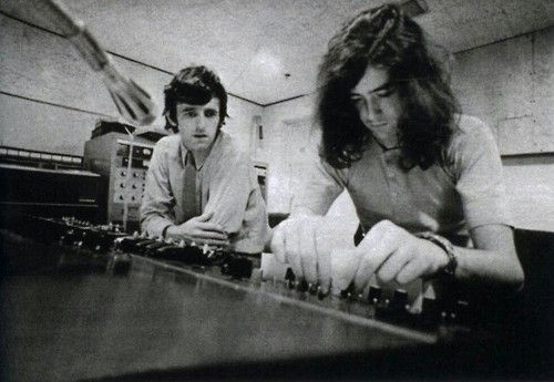 Jimmy Page with Glyn Johns, 1969