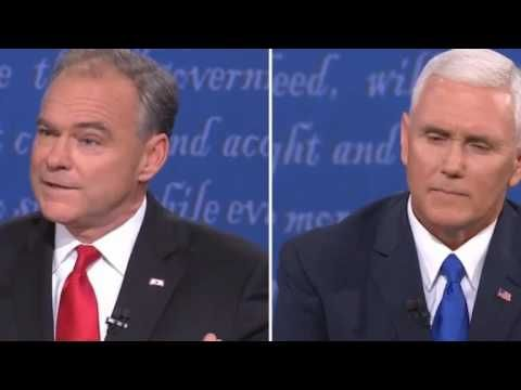How Senator Tim Kaine ultimately won the Vice Presidential Debate in 34 seconds
