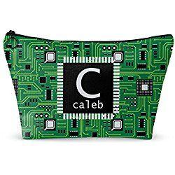 "Circuit Board Makeup Bag - Large - 12""x8"" (Personalized)"