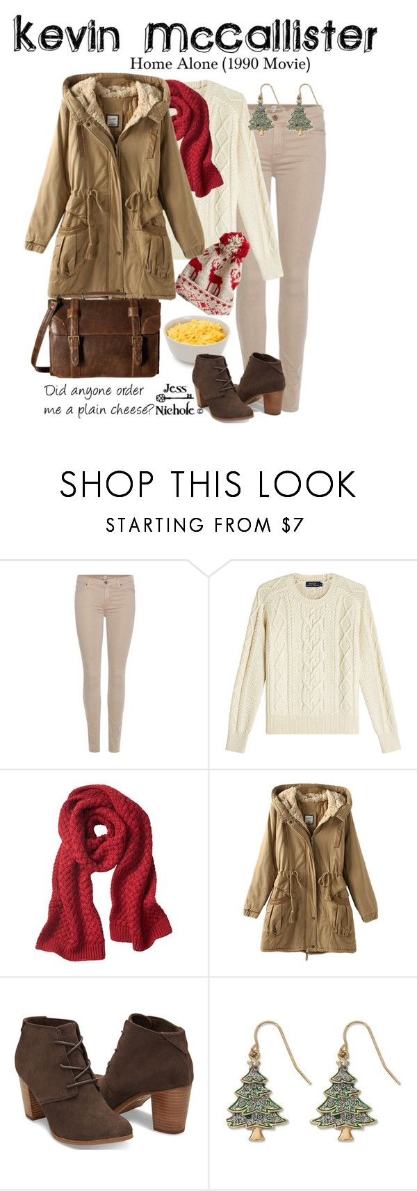 """""""Kevin McCallister"""" by jess-nichole ❤ liked on Polyvore featuring 7 For All Mankind, Polo Ralph Lauren, Banana Republic, TOMS, Kim Rogers and Scully"""