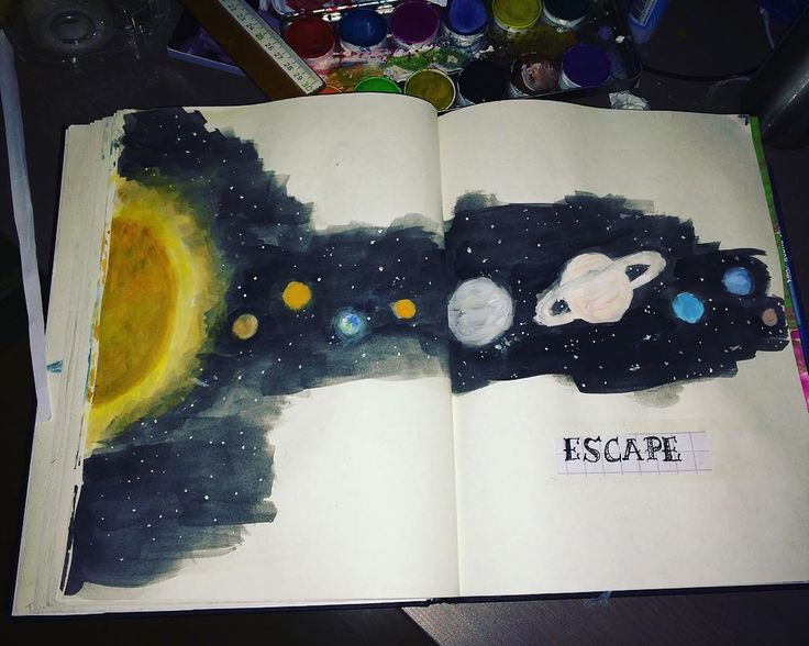 paint in the solar system drawing - photo #21