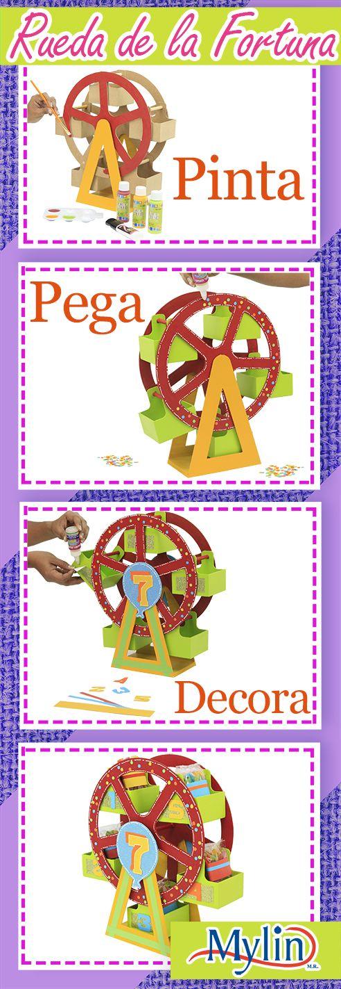 Centro de mesa para fiestas infantiles / Rueda de la fortuna ¡Hazlo tú mismo!
