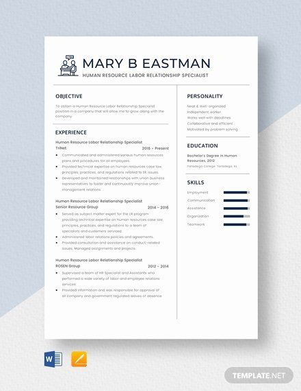 Human Resources Specialist Resume Fresh Environmental Health Specialist Resume Template Download 4082 In 2020 Job Resume Samples Education Skills Good Resume Examples