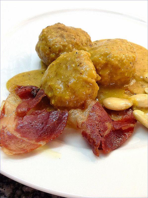Alb ndigas con jam n y manzana recetas cocinar blog de for Cocinar habas con jamon