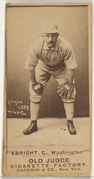 12 JUNE 1959-24 October 1916: Hi Ebright: hit .254 with two doubles, two triples, a HR and six RBI in 16 games for the 1889 Nationals squad in his only big league season//played six seasons in the California League appearing in games for the San Francisco Haverlys, Stockton, Oakland Colonels, San Jose Dukes and San Francisco Friscos between 1888 and 1893. Ebright then spent four seasons as a player manager in the Western League.