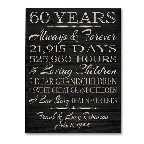 Ideas For 60th Wedding Anniversary Gifts For Parents : 17+ best ideas about 60th Anniversary on Pinterest 60th anniversary ...