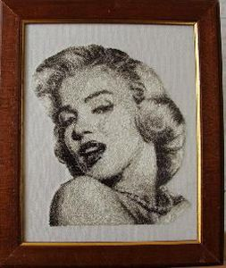 """""""Marilyn"""" Single! Digitized in a photostitch technique, this realistic version of Marilyn Monroe is beautiful framed!"""