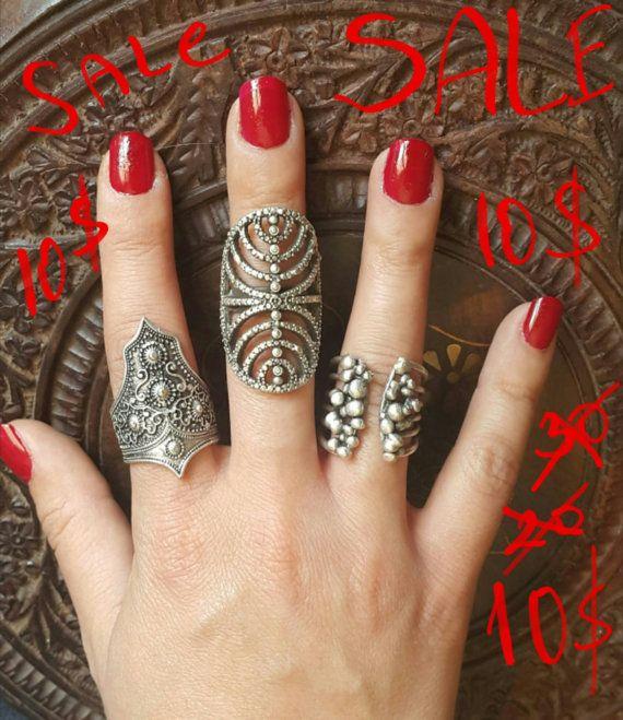 King silver ring tribal silver ring boho silver ring