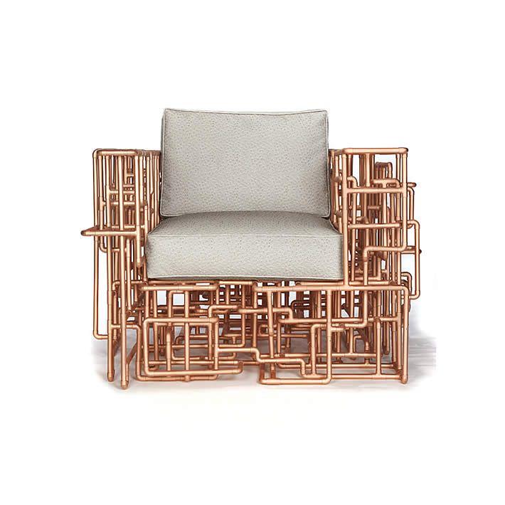 amazing furniture designs. american pipe dream chair copper piping furniture by brc designs amazing