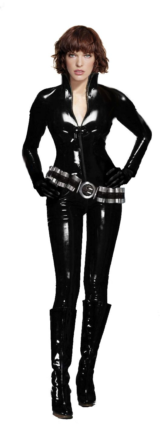 Black Spandex Catsuit worn By Milla Jovovich. Click Here To Buy your Catsuits from DCUK.
