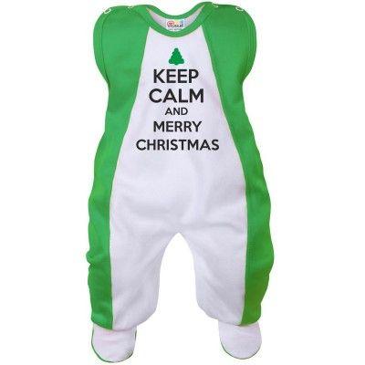Grenouillère bébé : Keep Calm and MERRY CHRISTMAS (7 coloris)