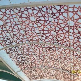 Mediterranean Sheds parking shed canopy.  Moorish design.