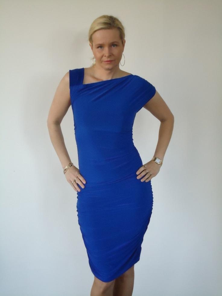Cookie Culture jurk in kobalt.   FASHION OBSESSION