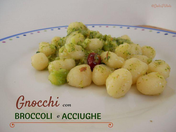 #Gnocchi con broccoli e acciughe!  #Primi piatti. #Italian food. http://dolcipilloleperilpalato.blogspot.it/2014/10/gnocchi-con-broccoli-e-acciughe.html