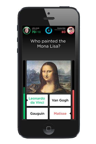QUIZ UP: ...Enter Quiz Up, the social trivia game. Topics range from classic literature and physics to Beyonce, so you don't have to suffer through anything that isn't interesting to you. Each match is quick, 70 seconds, so it fits into your busy schedule. Play with strangers from all around the world, or challenge your friends.