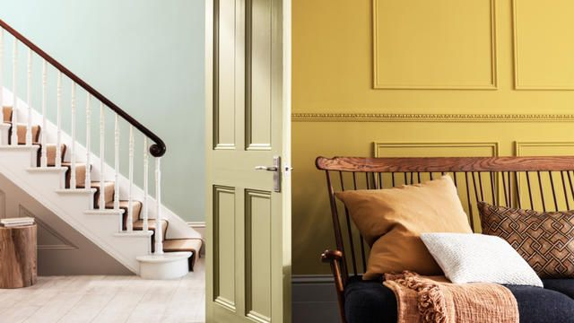 Dulux Colour of the Year | Cherised Gold | Gold Interiors | Pastel Interiors | Contrasting interiors | Rich colours | Midcentury furniture | Victorian interiors