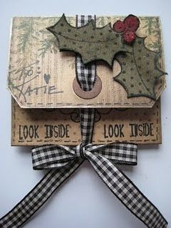 Gift Card Envelope w Punch Board