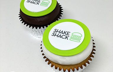 Order custom cupcakes delivered in NYC for your corporate event or gift - we decorate desserts with your company logo, product, or any seasonal design.