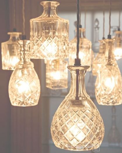 Beautiful repurposed pendant lights. But perhaps too ornate for my design