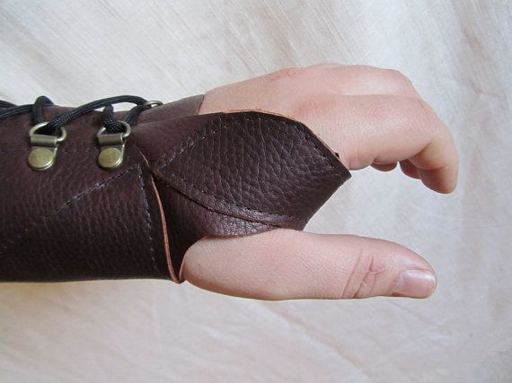 instock Medium Weight Leather Archery Arm by EarthlyLeatherDesign