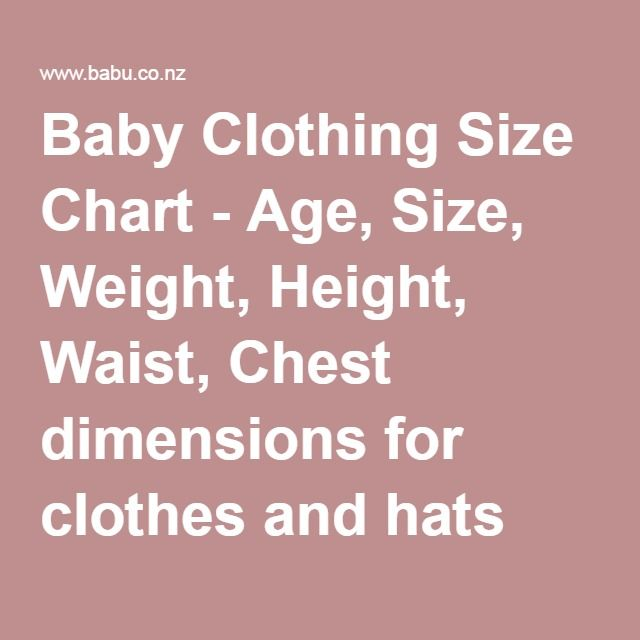 Baby Clothes Weight Chart Rebellions