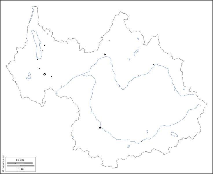 Savoie : carte géographique gratuite, carte géographique muette gratuite, carte vierge gratuite, fond de carte gratuit : contours, hydrographie, principales villes (blanc)