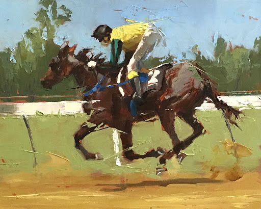 HELEN COOPER - Daily painting: RACE