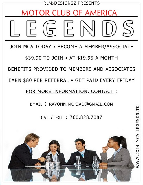 Mca legends now recruiting agents building a strong team for Motor club company scam