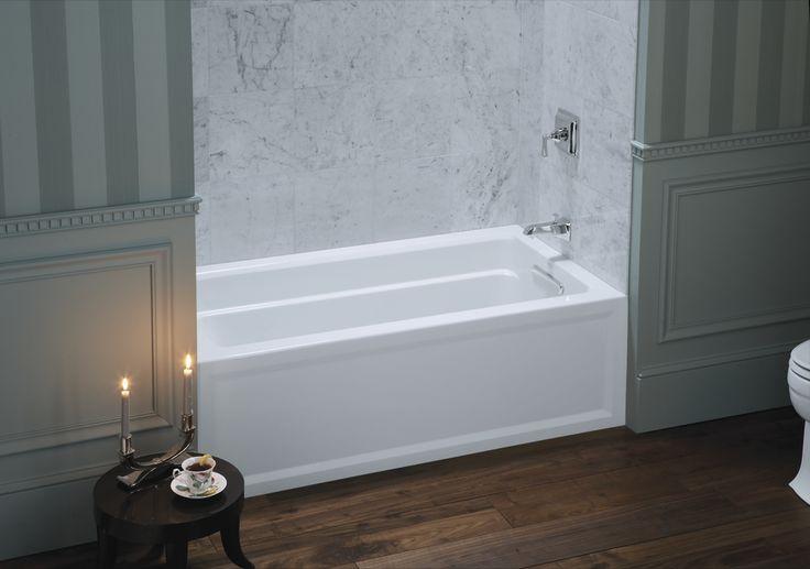 The Kohler Archer Soaking Tub Features Integral Armrests
