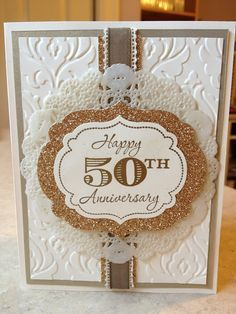 17 Best ideas about 50th Anniversary Cards on Pinterest | Wedding ...