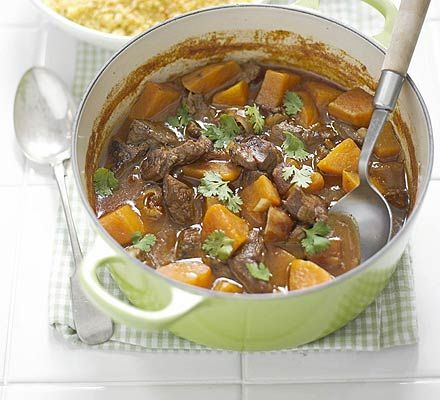 Aromatic lamb with dates, from Good Food - cut down on the cinnamon a bit if you aren't fond of the flavour - a quick and easy mid week dinner