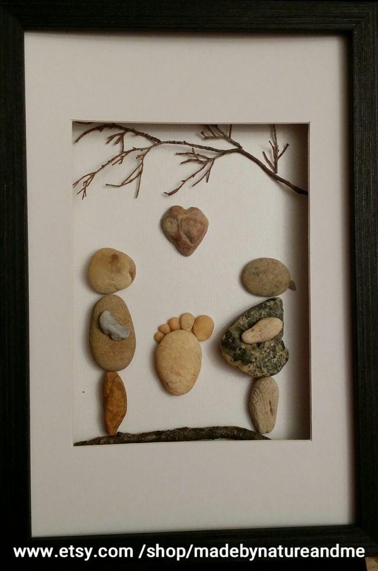 95 best pebble art images on pinterest painted rocks pebble art expecting parents gift pebble art rock art feet print solutioingenieria Image collections