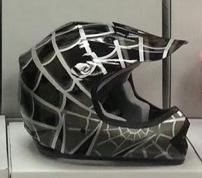 DOT ATV Dirt Bike MX Kids Youth Black Spider Motorcycle Helmet