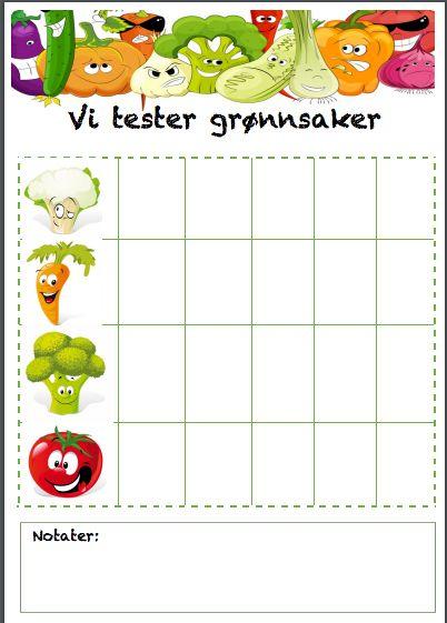 Vi tester grønnsaker - et prosjekt med barna - Idebank for småbarnsforeldre
