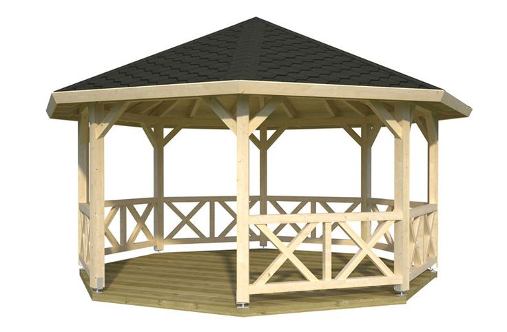 Best 25 wooden garden gazebo ideas on pinterest gazebo for Large wooden gazebos