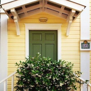 """A smashing little cottage I saw today in Seaside, Florida where the Movie the """"Truman Show"""" with Jim Carrie was shot.  And yes his house is still there! :)"""