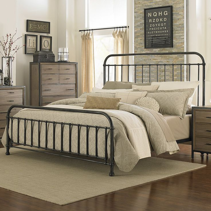 shady grove iron bed in antiqued natural by magnussen home humble abode - Metal Bed Frames