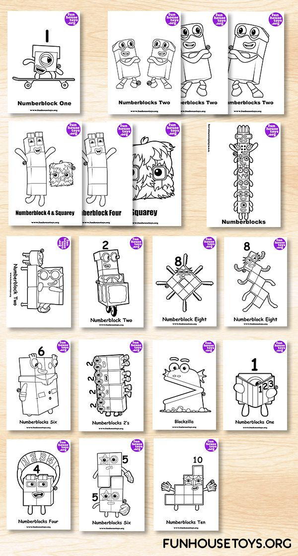 Fun House Toys Numberblocks Printable Coloring Pages Coloring For Kids Sight Word Worksheets
