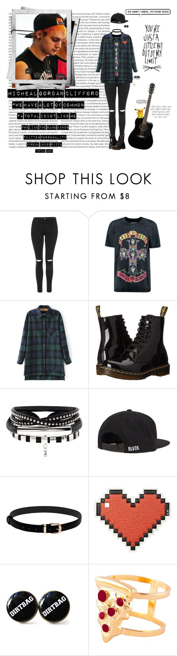 """""""5 SECONDS OF FASHION"""" by kingkittykat123 ❤ liked on Polyvore featuring Oris, Topshop, Boohoo, Dr. Martens, Anya Hindmarch and Glenda López"""