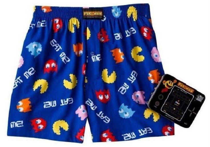 "PAC-MAN Lounge Sleep Shorts NeW Men's Medium 32""-34"" Pjs Pajamas Pacman Boxers #PacMan #SleepShorts"