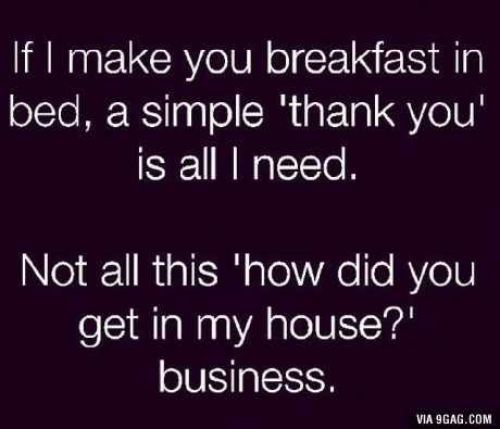 Is a simple thank you too hard?